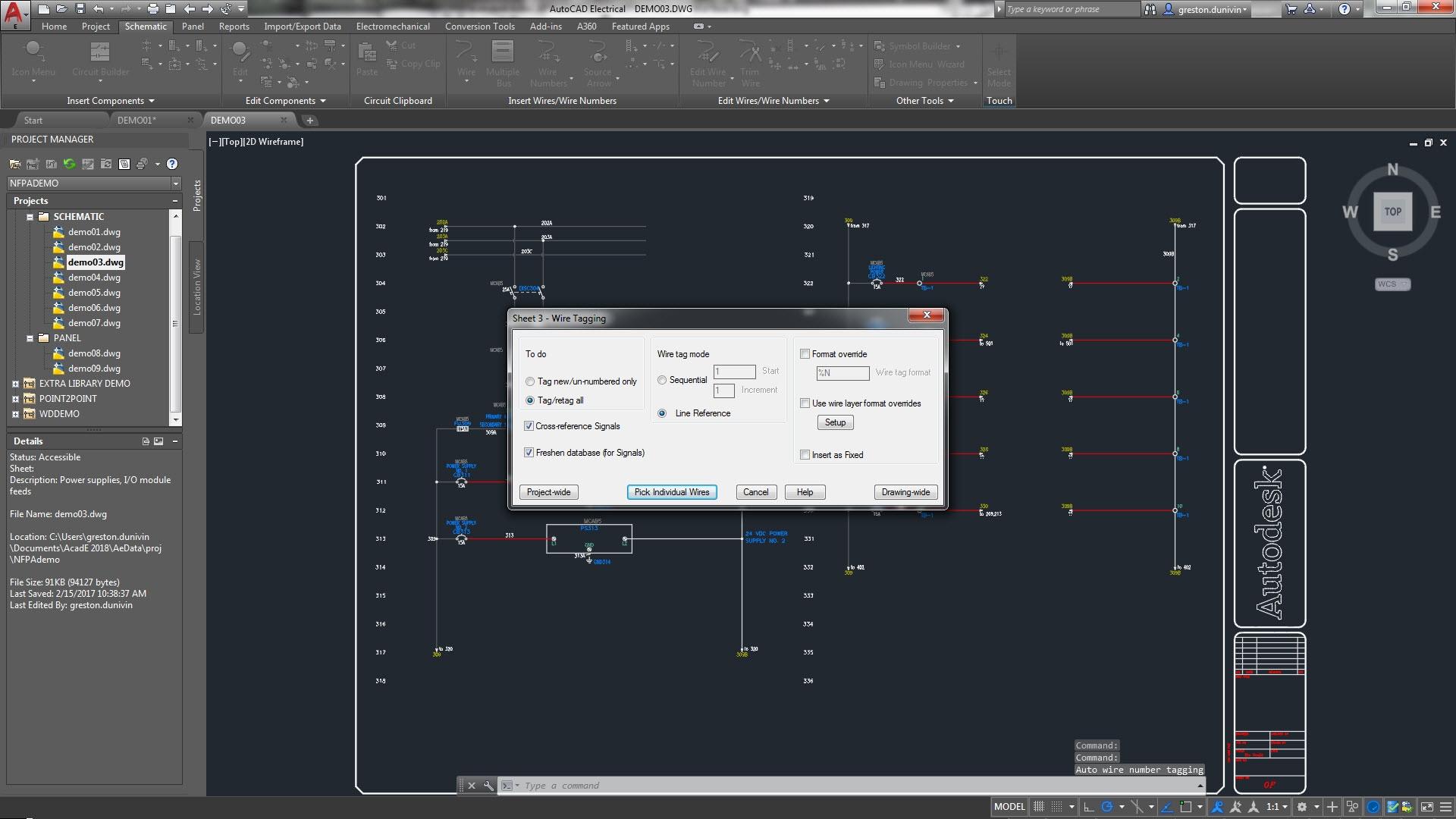 Schemi Elettrici Autocad : Set di strumenti autocad electrical software