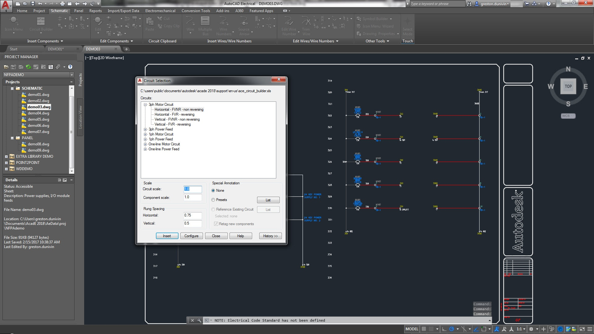 Autocad Electrical Toolset Design Software Mapping Wiring House Circuits The Lets You And Reuse