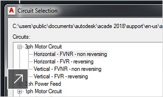 AutoCAD Electrical features include circuit design and re-use