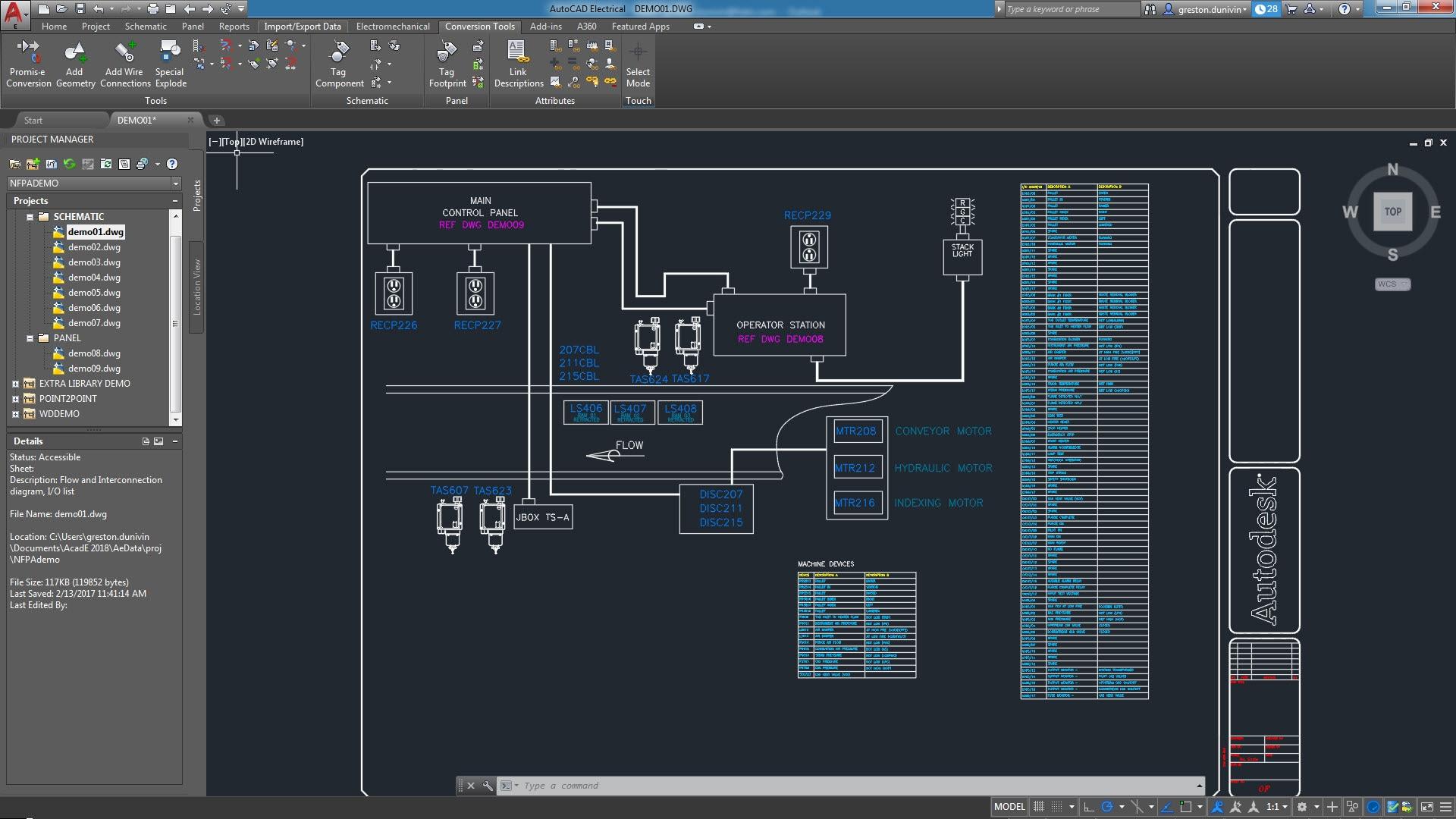 Schemi Elettrici Cad : Set di strumenti autocad electrical software di progettazione