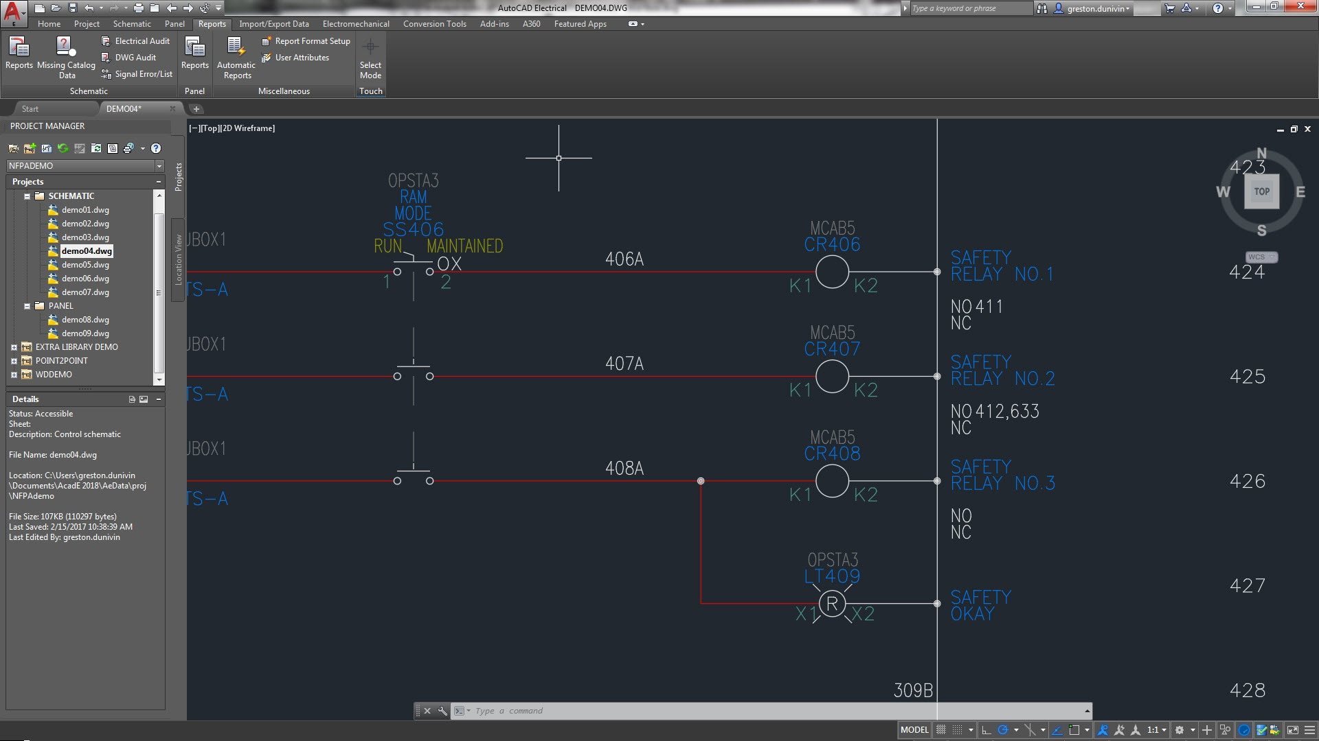 real time coil contact cross referencing large 1920x1080 product features autocad electrical 2018 autodesk AutoCAD Boat Wiring Diagram at cita.asia