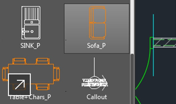 Access your favourite tools easily when you need them with the AutoCAD ribbon.