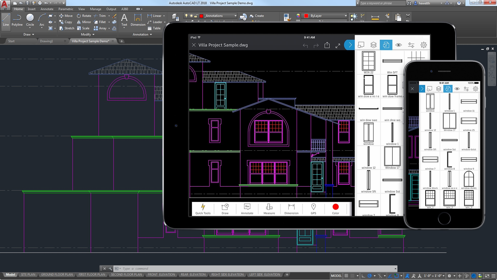 Autocad lt 2d drafting drawing software autodesk for Home cad design