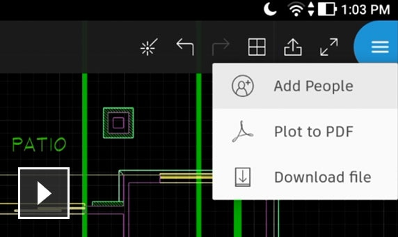 View, create, edit and share CAD drawings on your mobile device with the AutoCAD mobile app