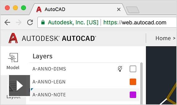 use the revision of the existing AutoCAD web app video that is already on this page