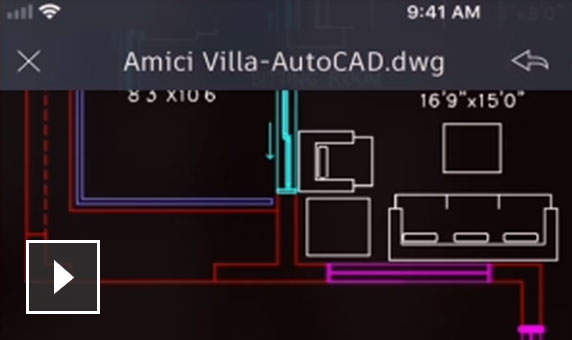 Video: Create, edit, view and share CAD drawings on the AutoCAD web or mobile apps