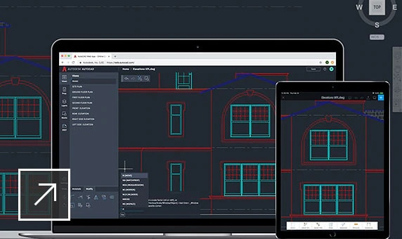 Drawings in AutoCAD displayed on desktop and mobile devices