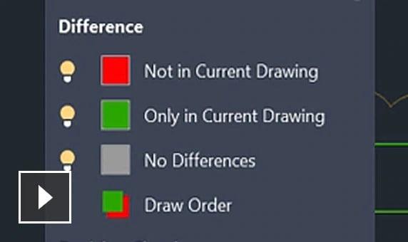 Video: Brug den nye værktøjslinje til at sammenligne to versioner af en tegning eller Xref