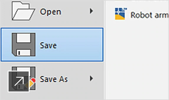 AutoCAD LT 中的儲存按鈕特寫