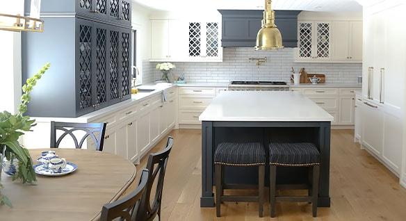 Renovated kitchen at Burnside Cottage
