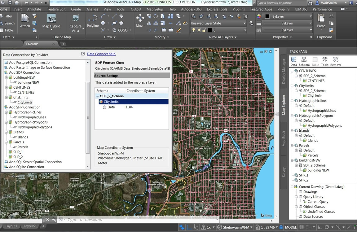 Autocad map 3d 3d gis mapping software autodesk 3d site