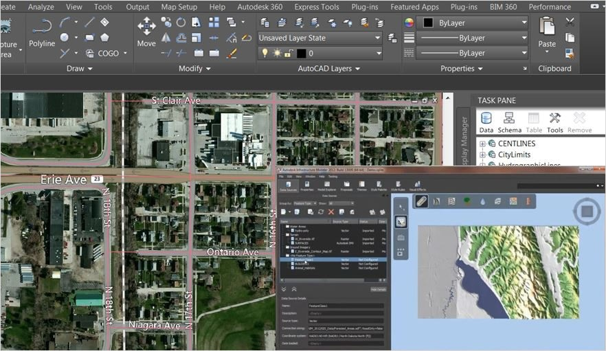Autocad map 3d 3d gis mapping software kanisco for 3d planning tool
