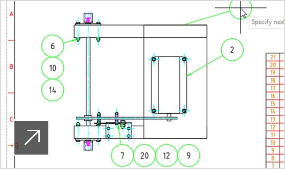 Creazione automatizzata di elenchi di parti e distinte componenti.