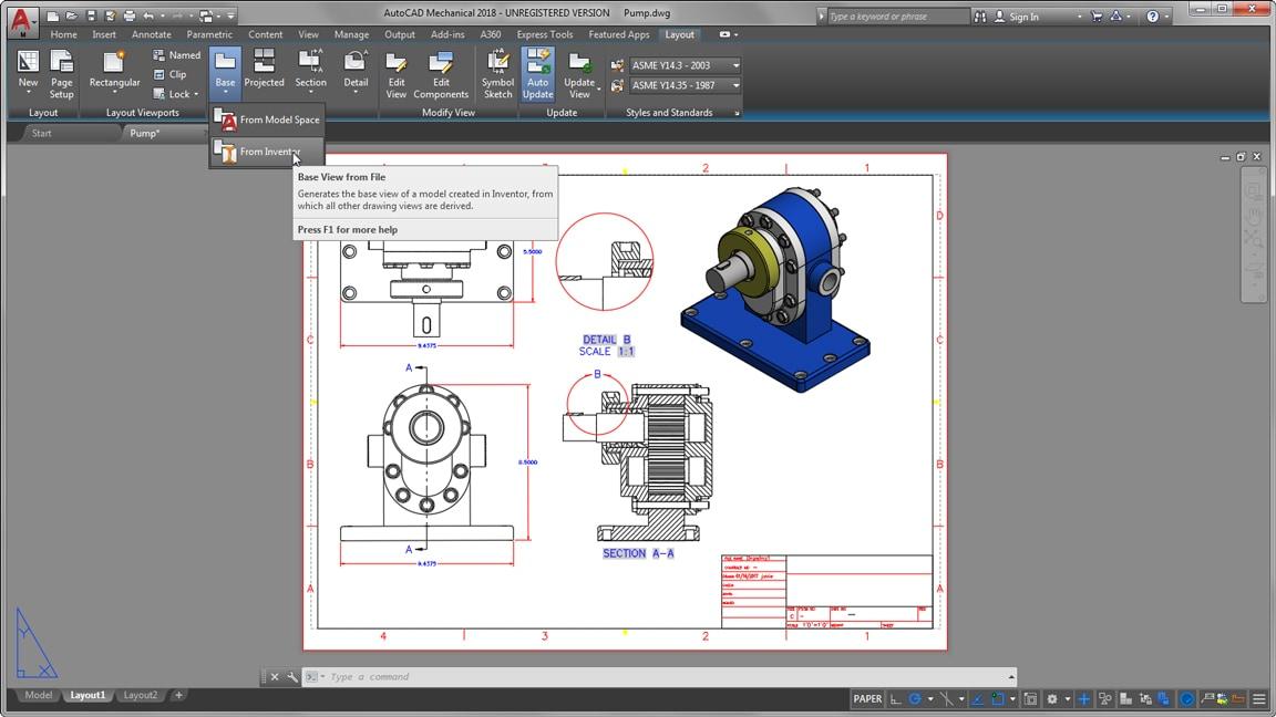 mechanical engineering design software autocad mechanical autodesk
