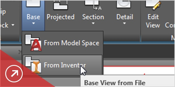 Create associative section and detail views of 3D models.