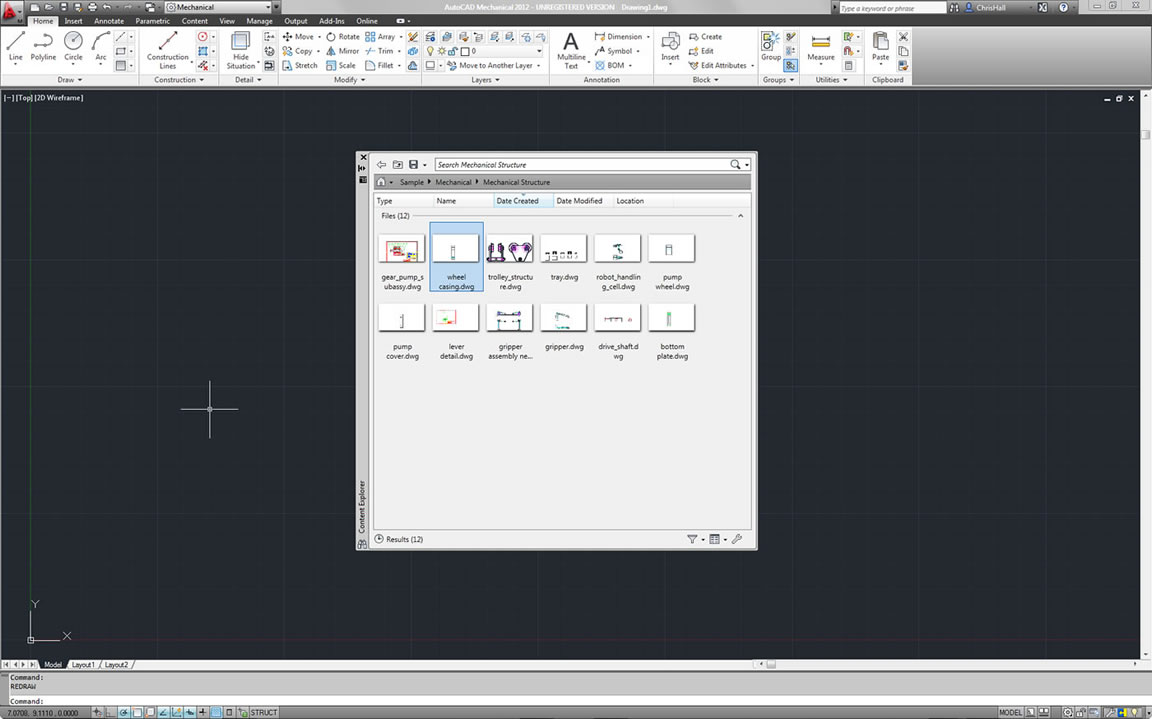 Easily access and insert data into DWG files