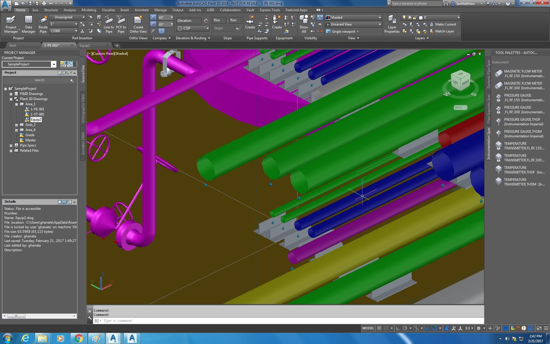 The AutoCAD Plant 3D Toolset Includes Speedy 3D Graphics