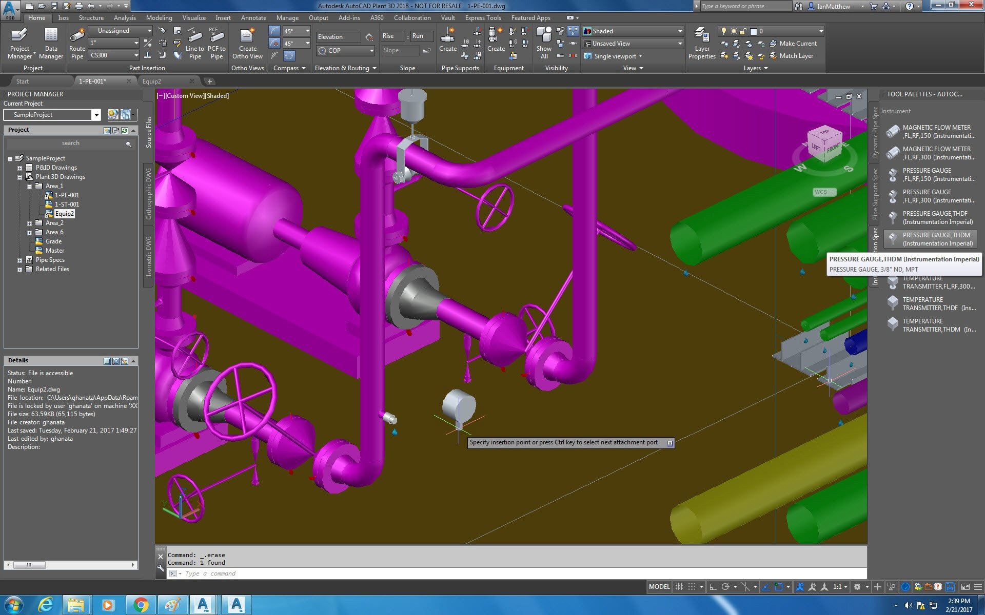 Autocad Plant 3d Toolset Design Software Piping Layout Notes Instrumentation Tool Palette