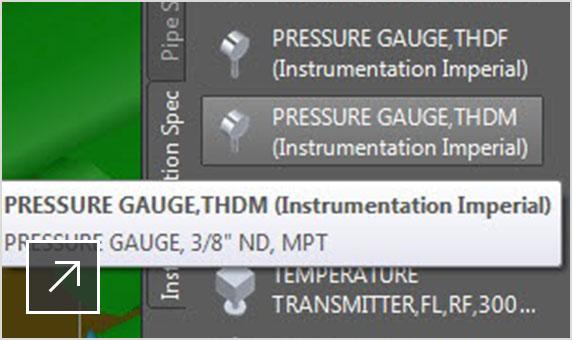 Instrumentation tool palette