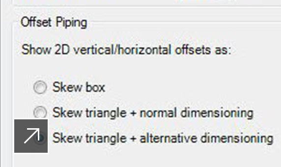 Isometric improvements: skewed lines in piping isometrics