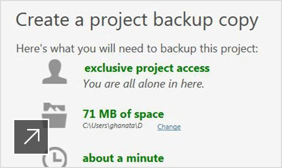 Create project backups