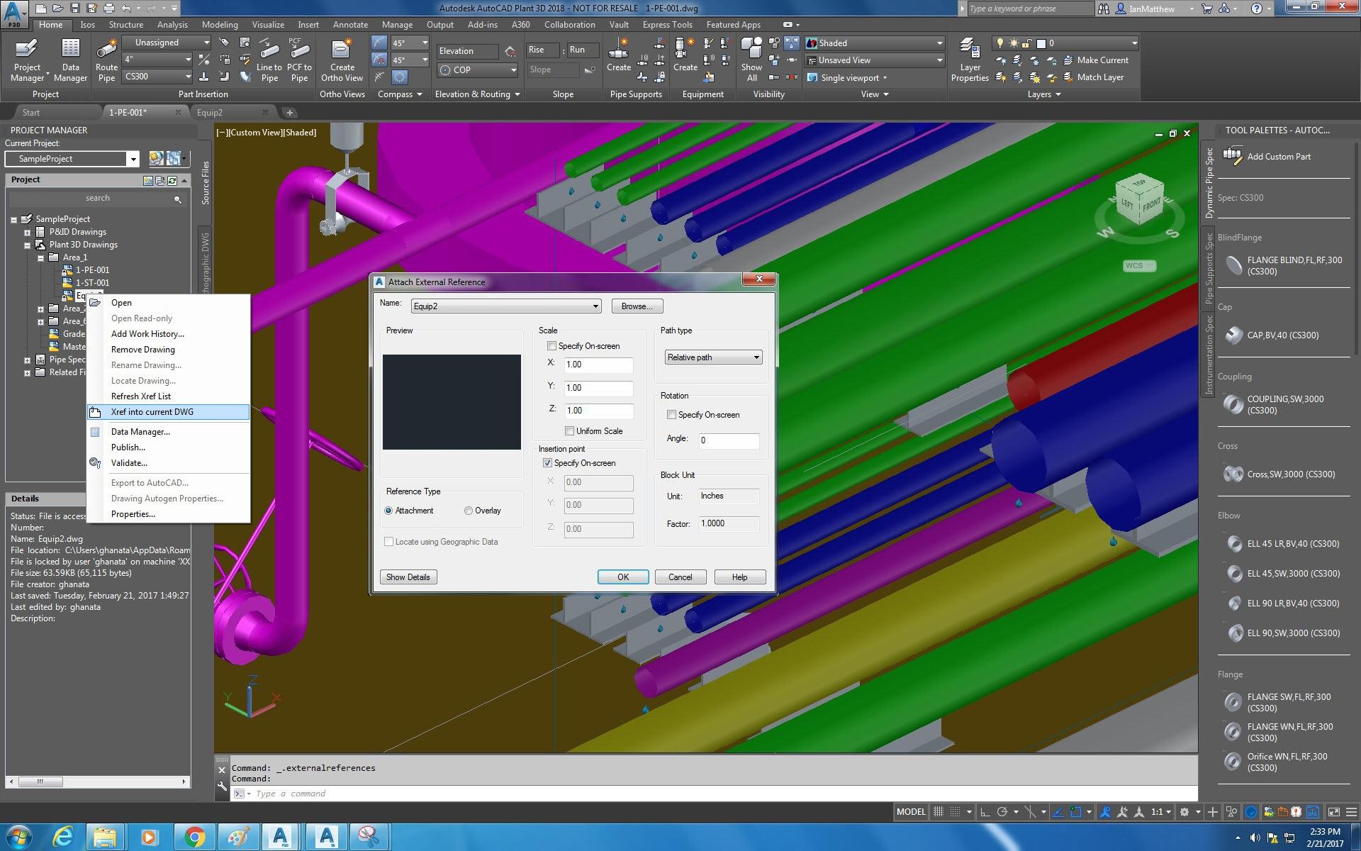 Set di strumenti autocad plant 3d software per la for Software di progettazione per la casa