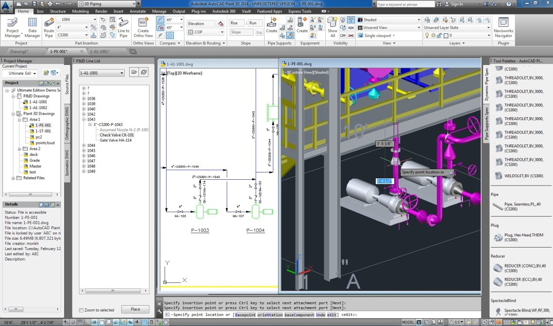 Autocad plant 3d 3d plant design software autodesk 3d cad software