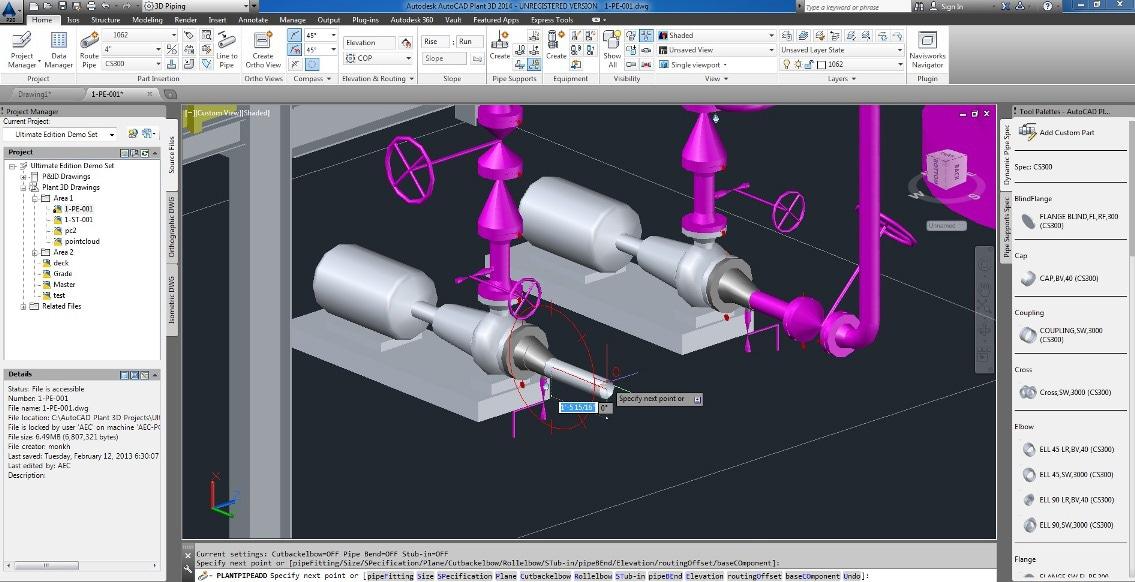 Autocad plant 3d cadline limited for 3d cad software