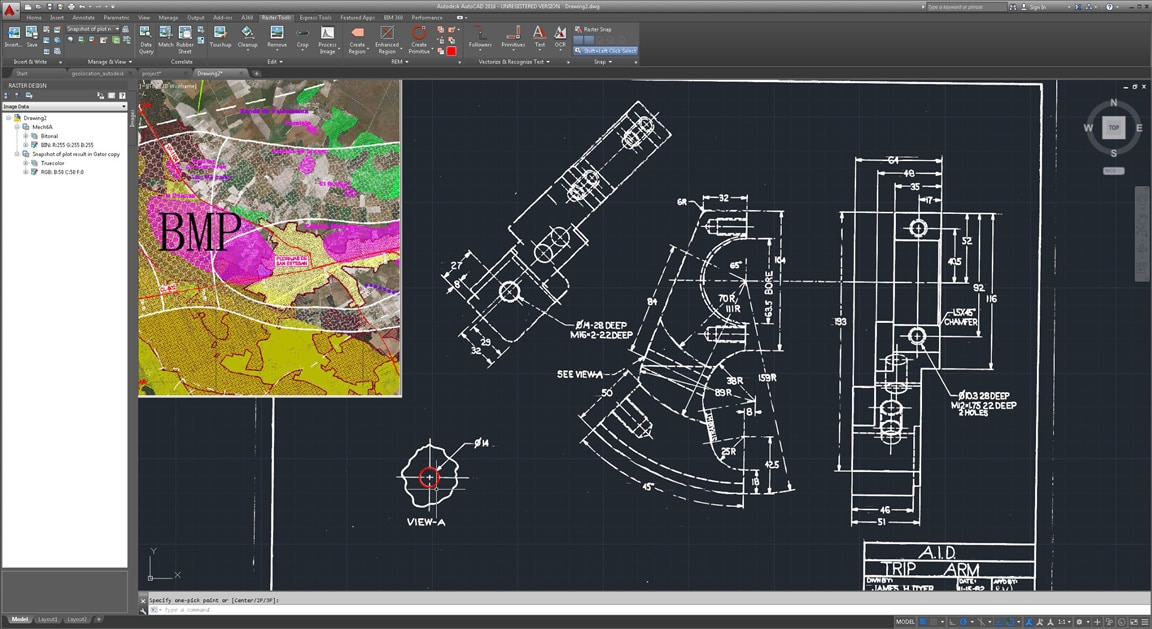 Autocad raster design toolset raster to vector software for Autodesk online home design