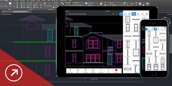Share and use data from PDF and DGN files, Navisworks, Bing Maps and AutoCAD mobile app
