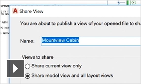 Video: Create shareable link for viewing and commenting on a drawing from a web browser