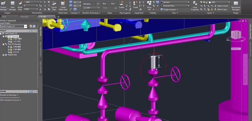 The AutoCAD Plant 3D toolset is part of AutoCAD 2019, which includes access to specialised toolsets
