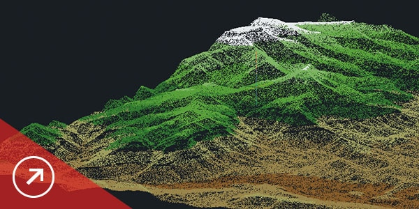 Surfaces and point cloud tools let you create models using points and contour data