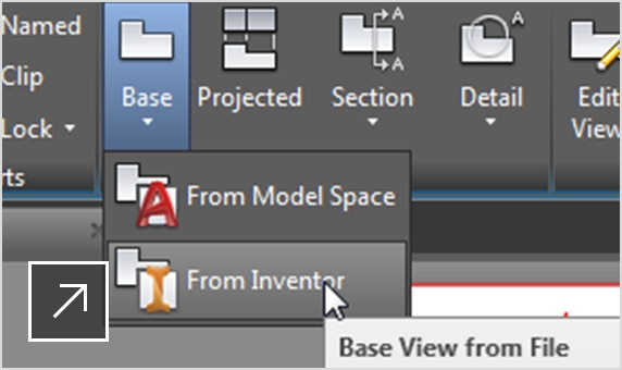 Use the AutoCAD Mechanical toolset to detail native Inventor part and assembly models