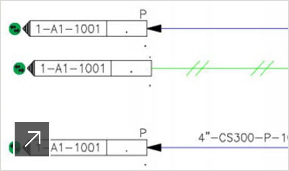 Off-page connectors maintain the continuity of lines that span drawings