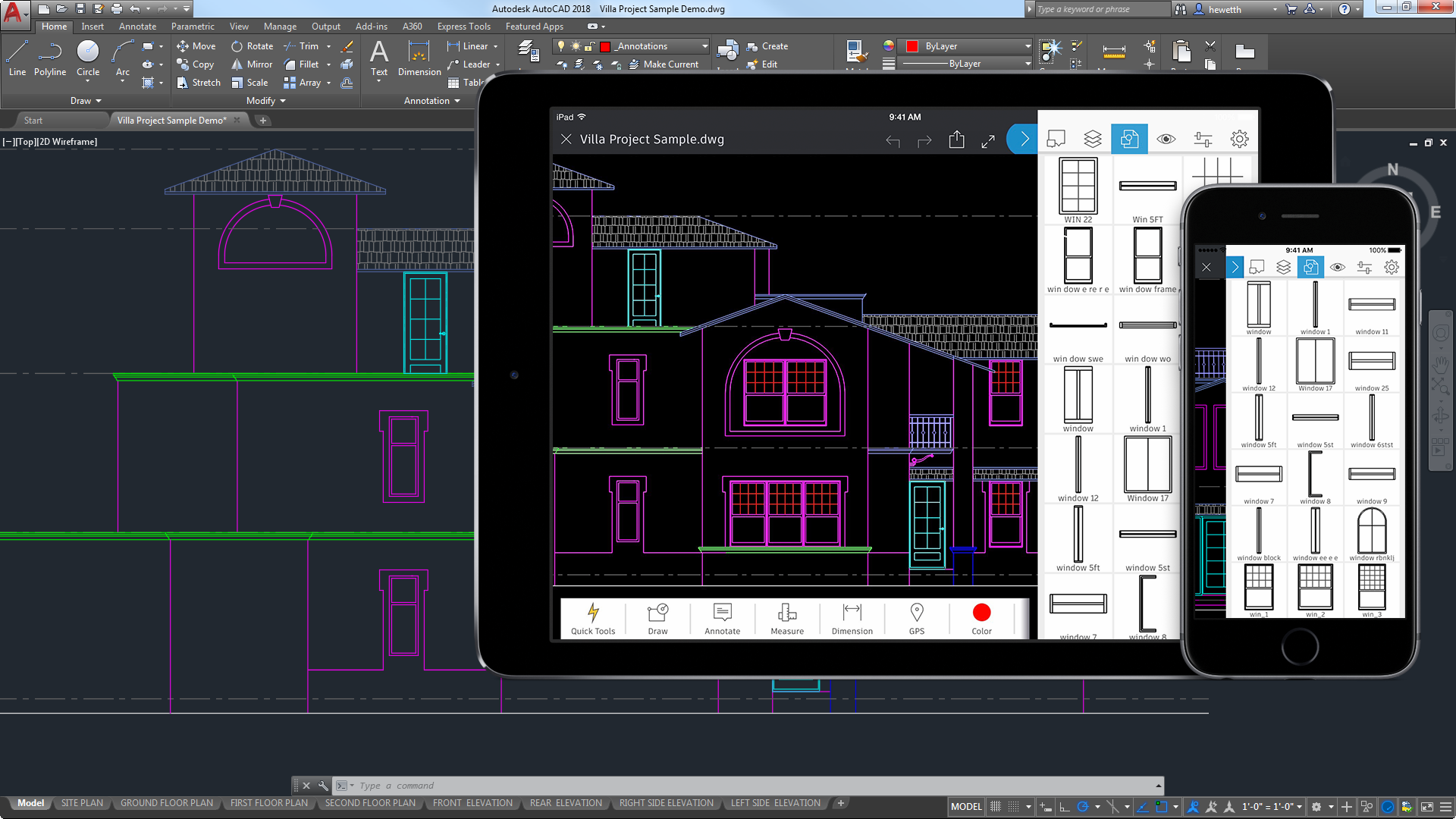 Front Elevation Of G 3 Building : Autocad for mac und windows cad software autodesk