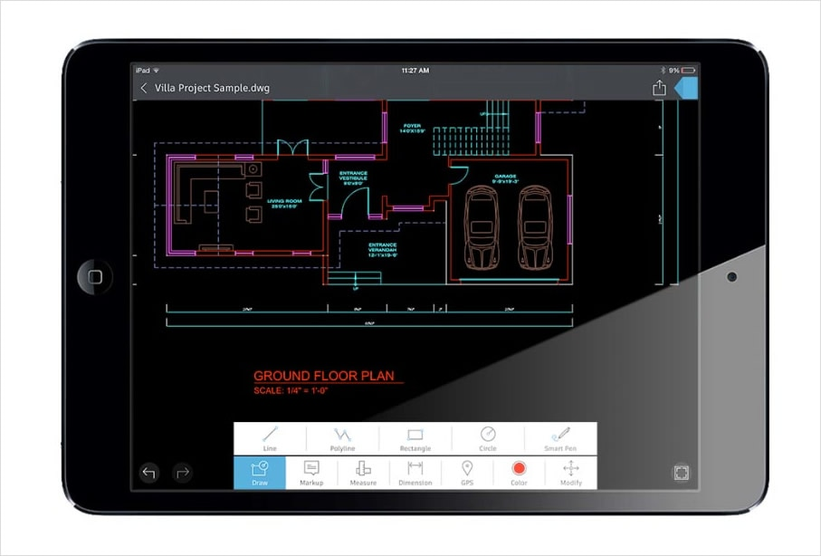 Take AutoCAD wherever you go with the AutoCAD 360 mobile app