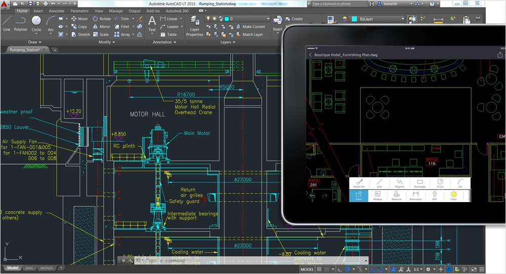 View, create, edit, and share DWG™ drawings on mobile devices.