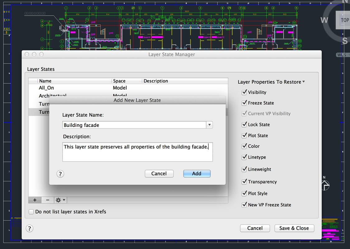Save layer settings to share with others