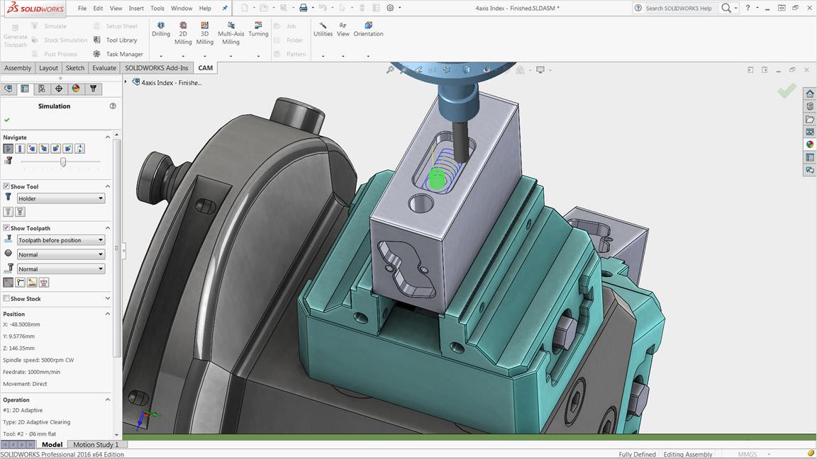HSMWorks を使用した 3 軸フライス加工