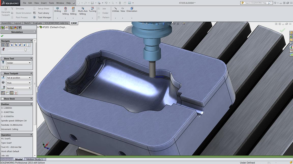 Inventor HSM Pro の 5 軸フライス加工