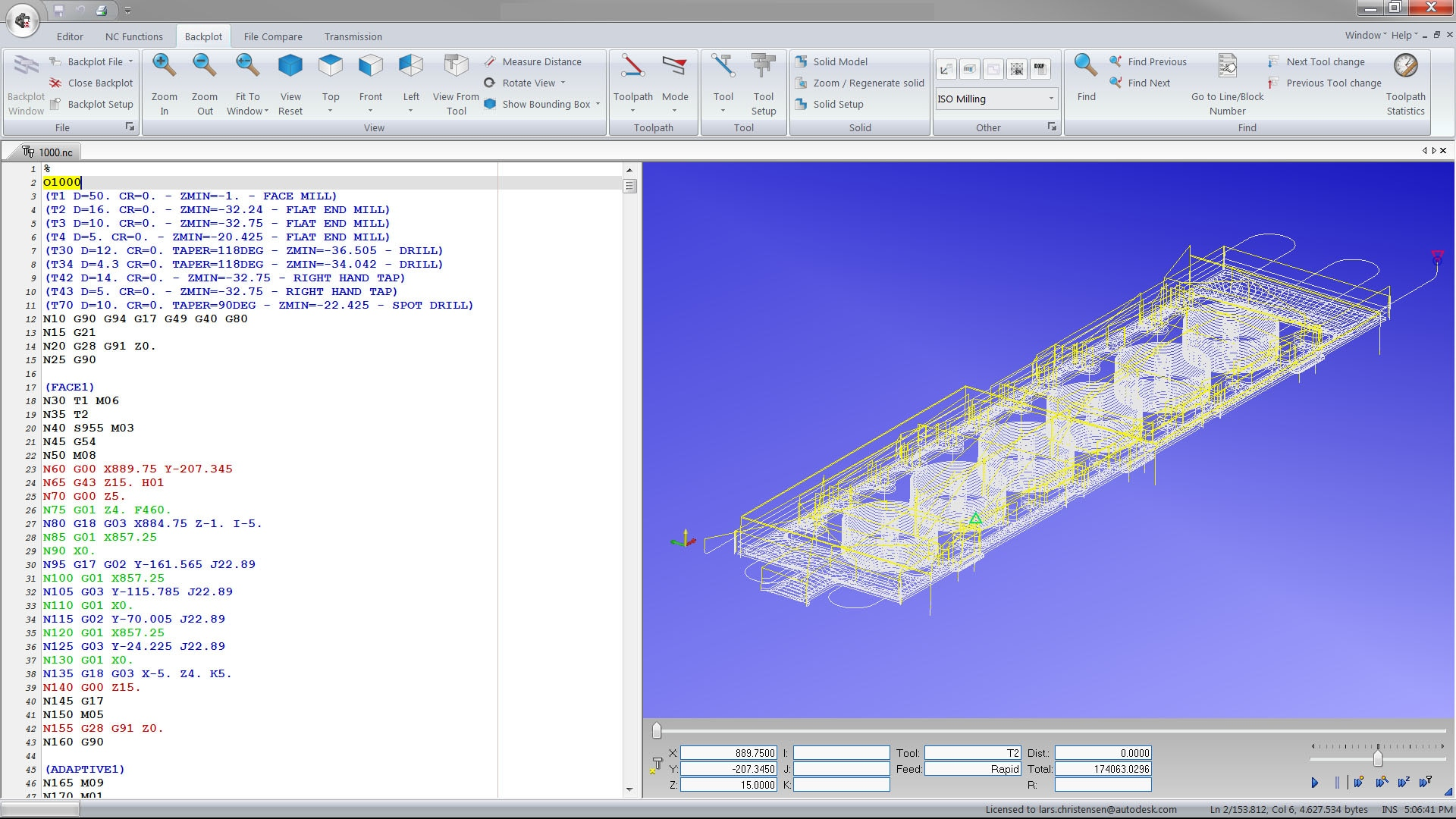 CNC output editing for Inventor and SOLIDWORKS