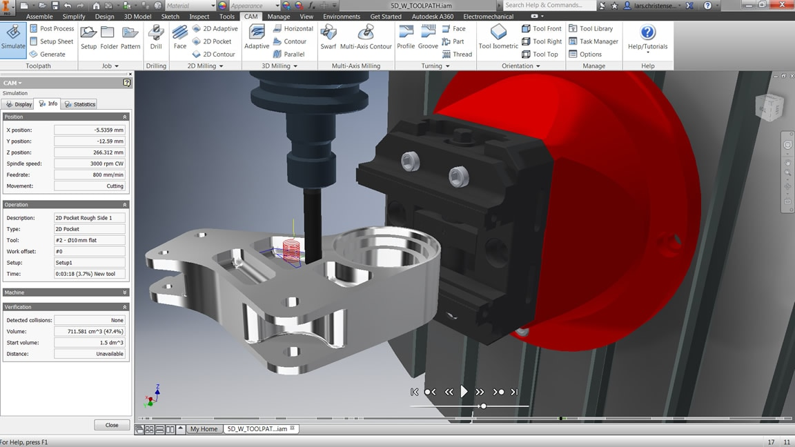 3-axis milling for Inventor and SOLIDWORKS