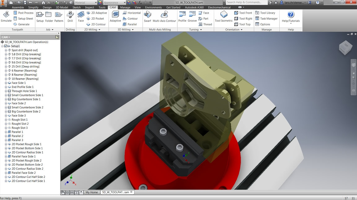 Advanced analysis tools in Inventor HSM