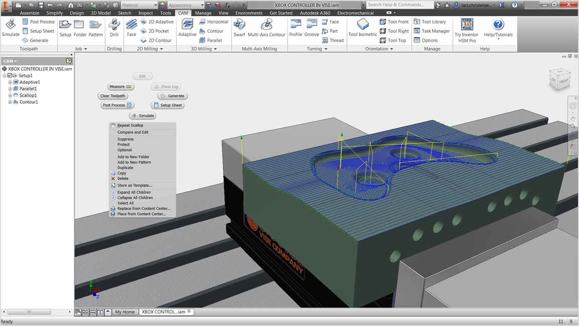 Integrated CAD/CAM solution for Inventor and SOLIDWORKS