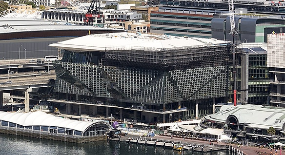Video: A shot of the International Convention Centre Sydney in Australia built using Revit BIM software