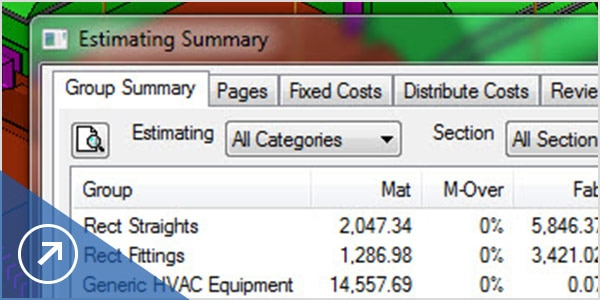 Estimate costs and create a competitive bid using Fabrication ESTmep
