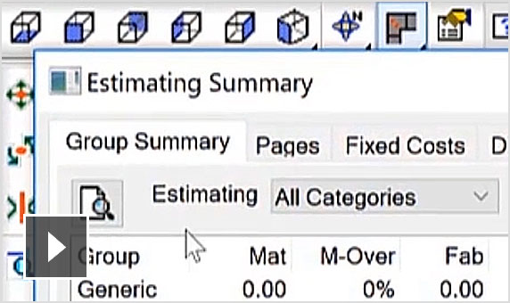Video showing how to use Fabrication ESTmep to generate accurate cost estimates