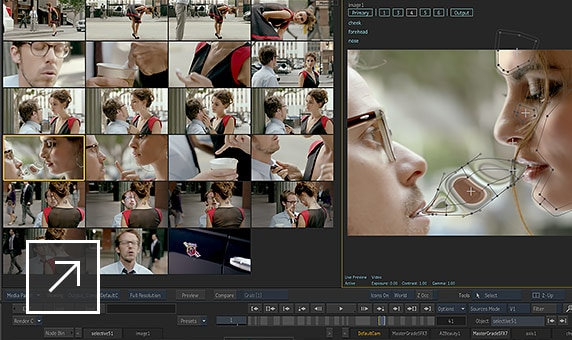 Apply shot-to-shot navigation principles of a colour grading tool
