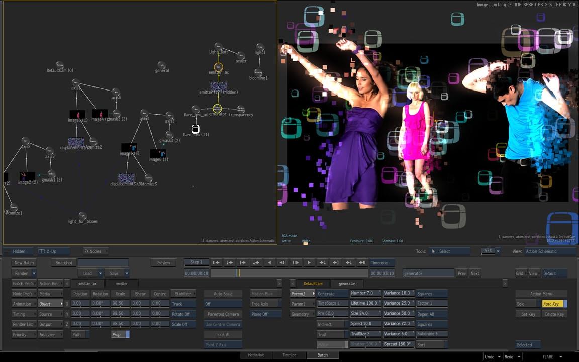 Autodesk Flare: 3D digital compositing software